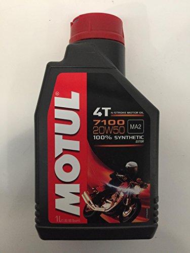 Lubricante, Aceite Sintetico Motul 4T, 7100 20W50 MA2 SM SINTETICO 1L, aplica para modelos Pulsar 200 NS, 200 AS, RS200,...