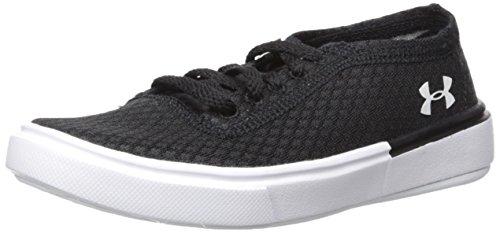 Under Armour Pre School Kickit2 Low Lightweight Sneaker, Black (001)/White, 2