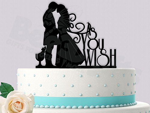 As You Wish Princess Bride Inspired Wedding Cake Topper