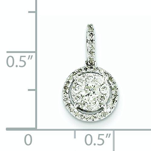 Or blanc 14 carats Diamant rond-JewelryWeb