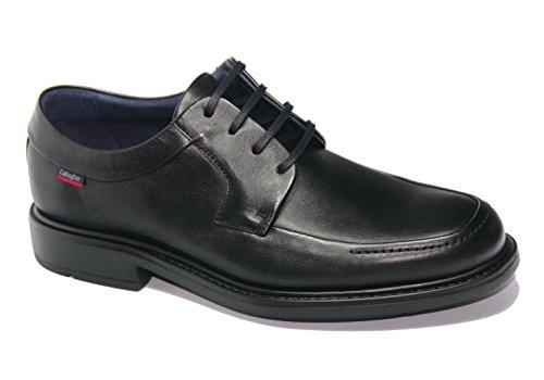 Zapato cordones negro Callaghan Extralight, modelo 89400.