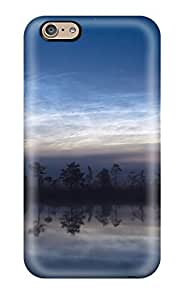 Rugged Skin Case Cover For Iphone 6- Eco-friendly Packaging(polar Mesospheric Clouds)