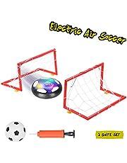 Ulikey Air Power Soccer, Juego de Balón de Fútbol para Niños, , Hover Ball Goal Set Juguetes al Aire Libre con 2 Puertas Luces LED y Música Hover Fútbol para Niños Niñas
