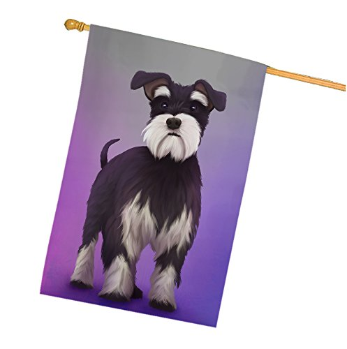Miniature Schnauzer Dog House Flag