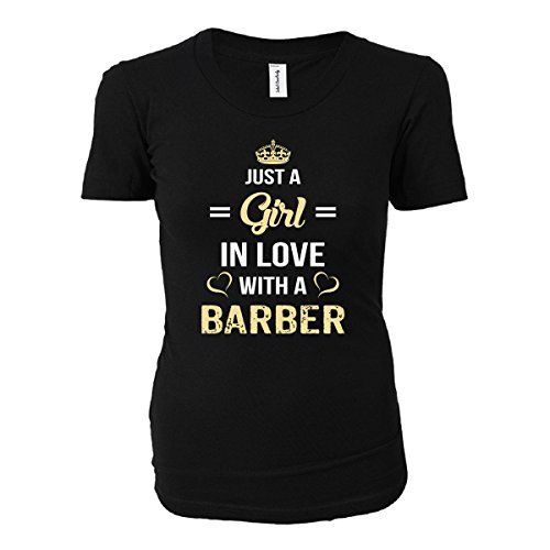 Just A Girl In Love With A Barber - Ladies T-shirt