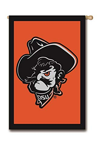 Ashley Gifts Customizable Applique Regular Flag, Double Sided, Oklahoma State University