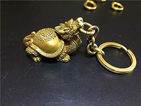Amazon.com: Llavero de latón con diseño vintage de dragón de ...