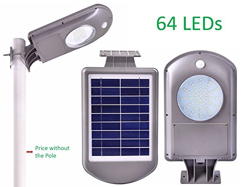 Solar Motion Sensor Lights Super Bright 64 LED Outdoor Solar Security Lights Waterproof for Garden Patio Garage Porch Backyard Pathway Driveway Walkway Barn Sidewalk Shed Fence Front Door Greenhouse by Sunway Solar
