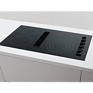 "Frigidaire RC36DE60PB 36"" Electric Built In Downdraft Cooktop With Downdraft System SpaceWise Expandable Elements PowerPlus Boil Hot Surface Indicators:"
