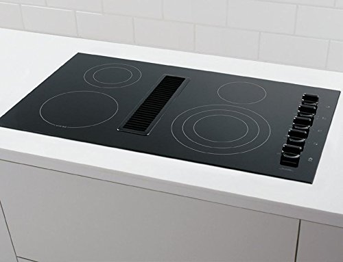 Frigidaire RC36DE60PB 36'' Electric Built In Downdraft Cooktop With Downdraft System SpaceWise Expandable Elements PowerPlus Boil Hot Surface Indicators: by Frigidaire