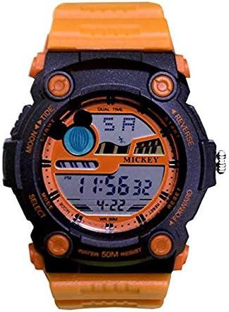 【親子で人気】WATCH Disney オレンジ × オレンジ ミッキー デジタル 時計 ラバーベルト ディズニー 腕時計 50M防水 ミッキー [並行輸入品]