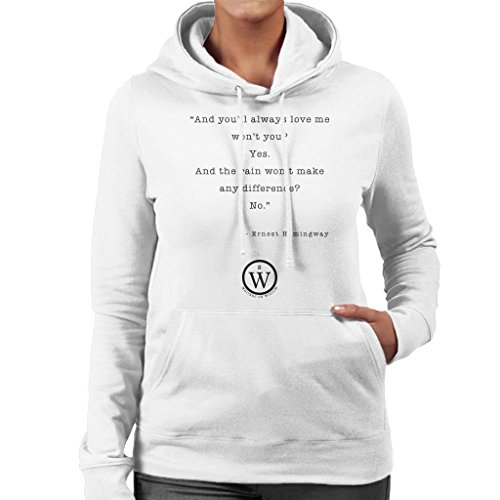 Farewell Sweatshirt Hemingway Hooded White Writers Arms On To Ernest Quote Wisdom Women's RA6Axqf