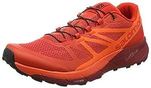 Salomon Men's Sense Ride Traction Athletic Sneakers, Red, Mesh, 7 M