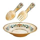 Gourmet Art 3-Piece Tuscany Melamine Salad Serveware Set