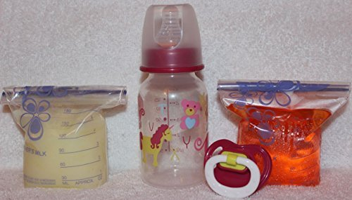 Reborn Sealed Princess Wand Bottle Bag Fake Formula Milk & Apple Juice With Matching Modified Putty Pacifier Baby OOAK Doll Girl - 4 PC Set by Reborn