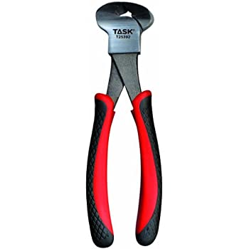 Task Tools T25392 8-Inch Nipper Pliers, Rubber Grip