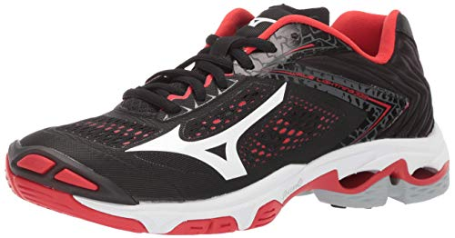 Mizuno Women's Wave Lightning Z5 Volleyball Shoe, black-red, 10 B US