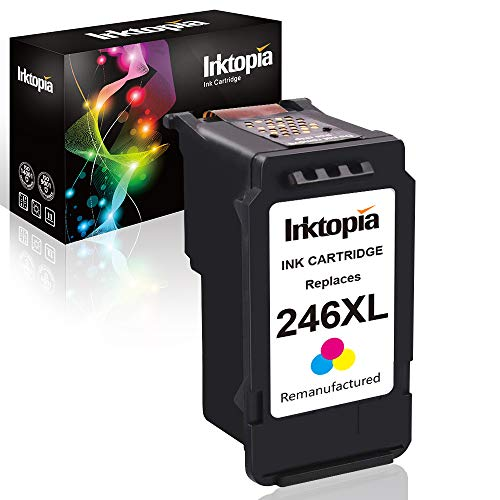 Inktopia Remanufactured Ink Cartridge Replacement for Canon 246XL CL 246 XL (Single Color) High Yield for Canon PIXMA MG2520 MG2920 MG2922 MG2924 MG2420 MG2522 MG2525 MG3020 MG2555 MX490 MX492 (Canon Ink Cl246)