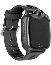 Doolland Smart klocka för barn, LBS GPS-spårare SOS samtal touchklocka för pojkar flickor kameraspel IP67 smartklocka kompatibel med iOS Android jul födelsedagspresent