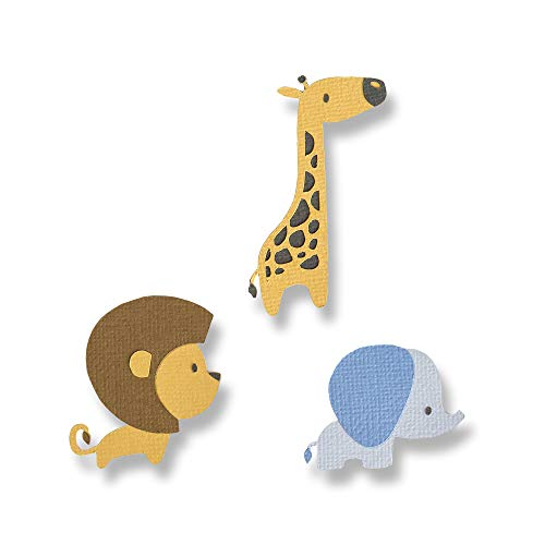 Animals Die - Sizzix 663580 Baby Jungle Animals Dies One Size Multicolor