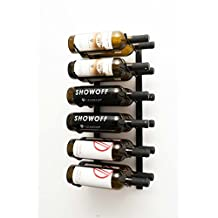Wine Master Cellars WS22-K 2ft. Wall Series 12 Bottle Wine Rack, Black