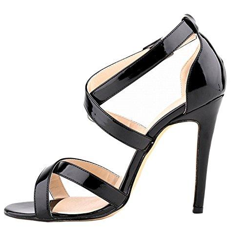 MERUMOTE - sandalias mujer Patent-Black