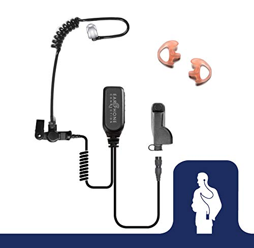 Hawk Lapel Mic with Quick Release Adapter for Motorola APX6000 APX7000 XPR Radio (Black Tube)
