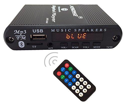 Bluetooth Audio receiver FM radio,MP3 Digital Player,LED digital Display,SD card/USB Playback 3.5mm audio output by XRONG