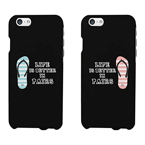 Life Is Better In Pairs Matching Couple Phone Cases for iphone 4, iphone 5, iphone 5C, iphone 6, iphone 6 plus, Galaxy S3, Galaxy S4, Galaxy S5, HTC One M8, LG G3