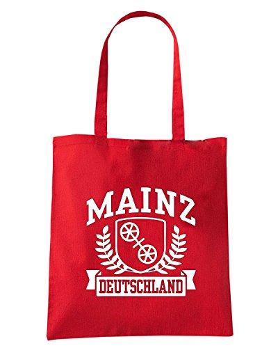 T-Shirtshock - Bolsa para la compra TSTEM0236 mainz deutschland (3) Rojo