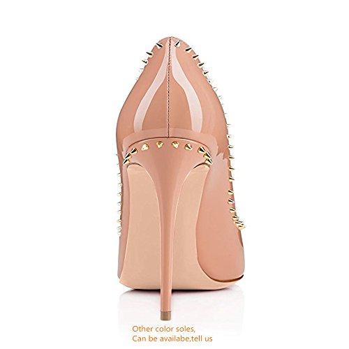 Corte Stiletto  con Pompe Elegante Scarpe Donna Tempestato Rotonda  Stiletto  1f88e3
