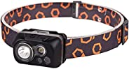 Ultra Bright LED Headlamp - 300 Lumens, 5 Lighting Modes, IPX6 Water Resistant, for Camping, Running, Hiking,