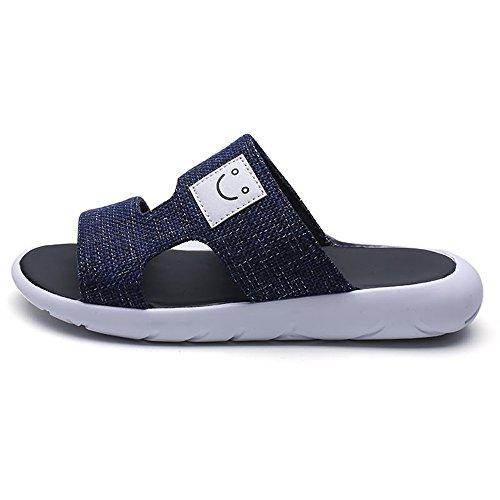 Blu in uomo con pelle Dimensione vera shoes decorati uomo e Pantofole da da con Color sandali 39 EU fibbia da Jiuyue suola Scarpe Nero antiscivolo mare wX4AxzxY