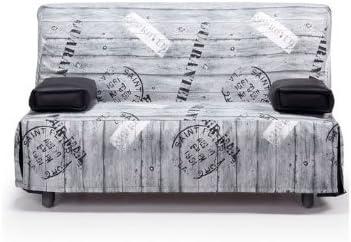 Sofa Cama DOBLE 140 cm. Extensible con funda - Tejido ...