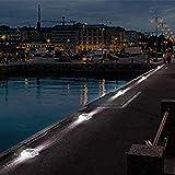 SUPERDANNY 8-Pack Solar Deck Lights Dock Path Road