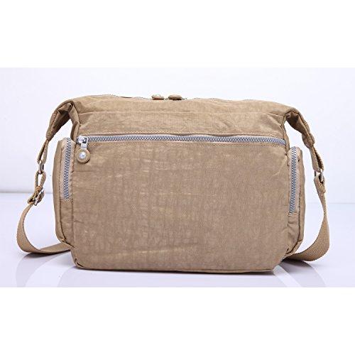 for Beige Travel Girls Bag Messenger Satchel Sport Pack Bag Designer Bag Crossbody Bookbag Shoulder Side Body Bag Women Foino Cross Fashion ZRfv6
