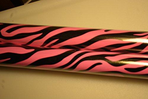 Pink Zebra 2 Rolls Gift Wrap -