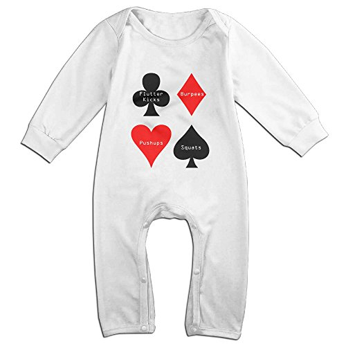 Price comparison product image Perfect Boutique. Cute Poker Car Romper For Newborn Baby White Size 24 Months