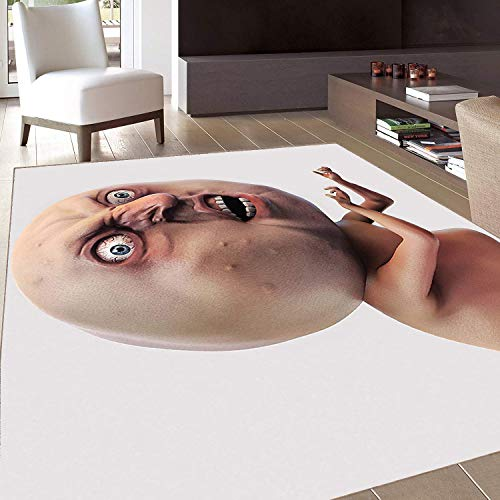 Rug,FloorMatRug,Humor,AreaRug,Scary Internet Meme with Why You No Expression Angry Trolling Chat Digital Design,Home mat,4'7