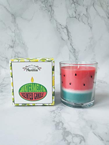Novillia Soy Wax Candles Premium Luxury Watermelon Scented 100% Organic Aromatherapy Candles 6oz