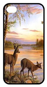 Deer Back Cover for iPhone 4,iPhone 4s cases