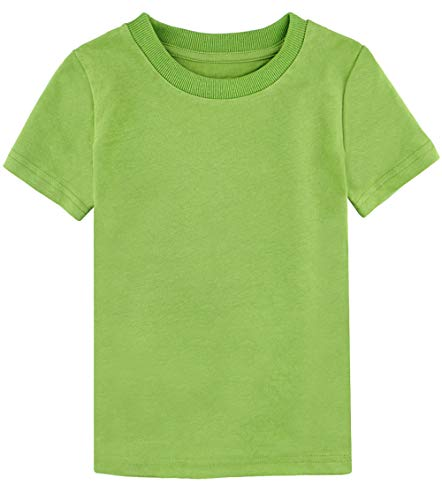 COSLAND Toddler Lime Green Tshirt Basic Tee (Lime Green, 3T)
