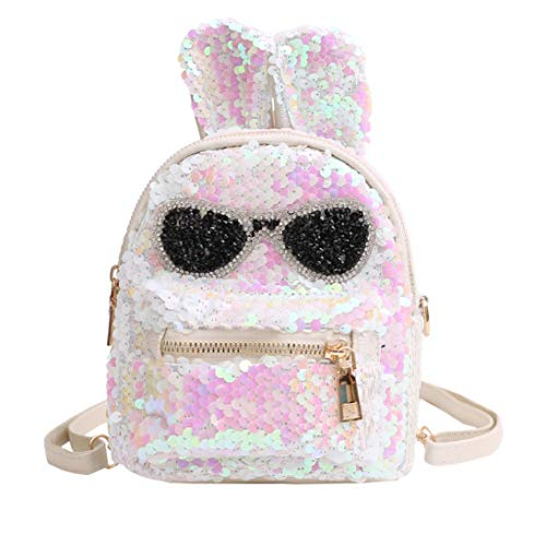 Clearance Sale,Realdo Fashion Girls Sequins Shoulder Bag Student Bling School Travel Backpacks Daypack -