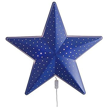 Children's Blue Star Nursery Wall Decor - Night Lamp - Bulb Is Included