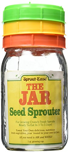 Grow Alfalfa Sprouts - The Jar Seed Sprouter 1 qt Growin Cap