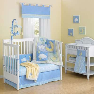 ntial Cotton Quilted 10 Piece Crib Bedding Set ()