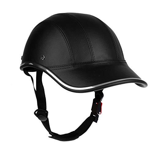 Adjustable Strap Helmet Bicycle Helmet PU Baseball Cap Style Sunshade Hat Lightweight Comfortable Anti UV Bicycle Helmet…