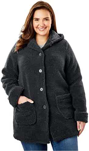 8794c3f1bd3b0 Woman Within Plus Size Hooded Berber Fleece Jacket