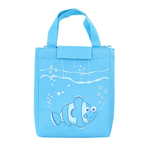 Juner Insulated Lunch Box or Soft Cooler, Heat-Sealed, PVC-Free Liner, Water Resistant, Velcro Closed,Fish Pendulum High Capacity (Sky Bule) by Juner (Image #1)