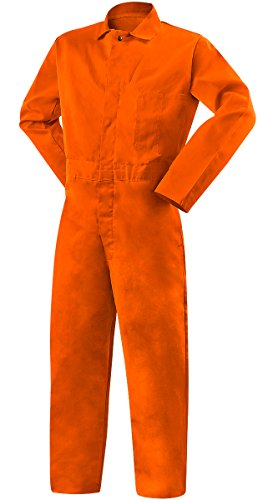 Steiner 1045-4X Coverall, Weldlite Orange 9.5-Ounce Flame Retardant Cotton, 4X-Large